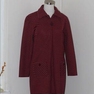 Vintage 70s Long Sleeve Striped A Line Dress